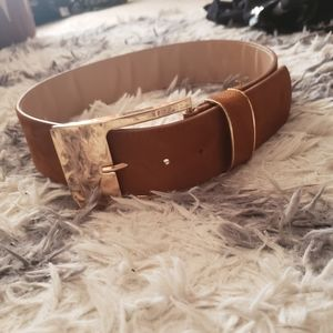 Express brown and gold belt S